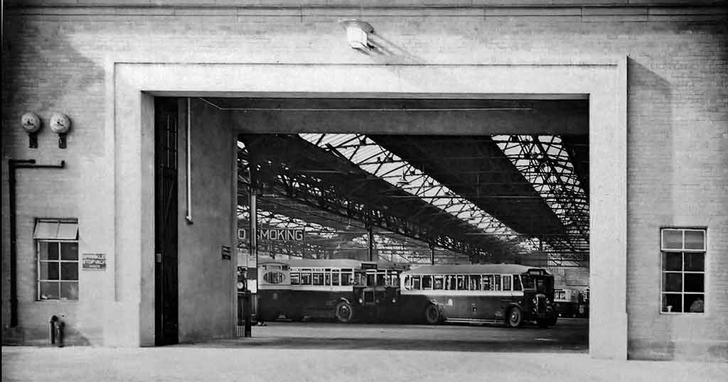Buses in Annandale Street Depot.  Wuld this photo have been taken around 1930s?