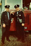 Silverknowes Bus Terminus  -  Driver and Conductor  -  1964