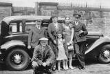 The Leckie Family and Chauffeur and Car, around 1937