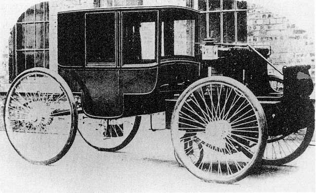 A Madelvic '5-wheel' electric car  built at Granton, 1898-1900