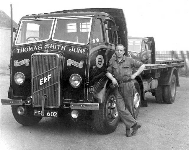 An ERF lorry bellonging to Thomas Smith Junr at Newhaven
