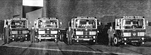 Four Lorries bellonging to United Wire Works, Granton Park Avenue, Granton
