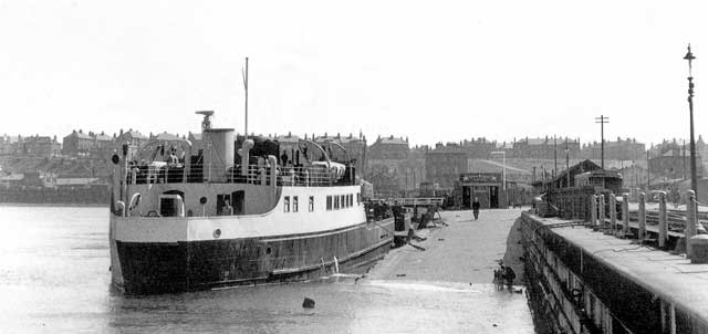 The ferry 'Glenfinnan' at Granton Harbour - 1952