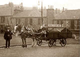 Horse and Dust Cart - on the site that later became Gorgie Farm  -  Photo taken around 1945