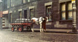 St Cuthbert's horse-drawn milk delivery cart, Gorgie Road, 1971