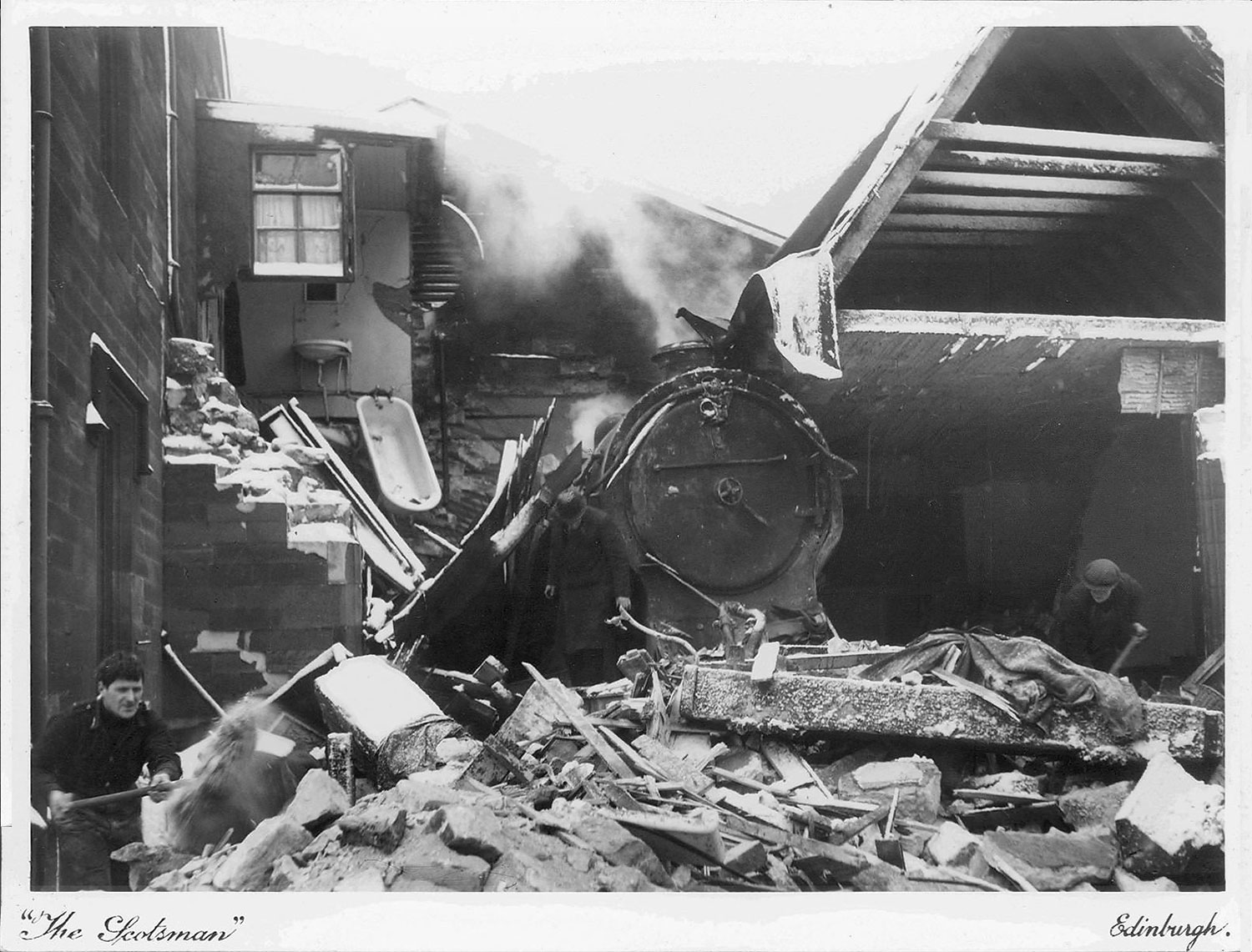 Railway Accident at Musselburgh, 1941