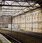 Terminus of the Canal Street Station, closed for over 130 years  -  opposite Platform 19 at Edinburgh Waverley Station