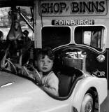 Roundabout at Burntisland - Probably 1950s  -  'Shop at Binns'