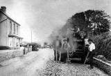 Steam Roller at Cluny Drive, Morningside  -  1959