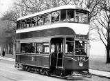 Tram 172 posed for a photograph.  Was this photo taken at Bruntsfield Links or The Meadows, and when might this photo have been taken?