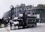 Edinburgh's Last Horse-drawn tram  -  at Tollcross  -  24 August 1907