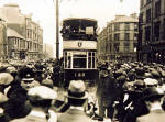 Pilrig  -  The Official Party crosses the Edinburgh/Leith boundary at Pilrig on 20 June 1922  - the first day of operation of through trams between Edinburgh and Leith