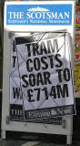 Poster  -  Tram costs soar to £714m