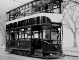 Tram 261 posed for a photograph.  Was this photo taken at Bruntsfield Links or The Meadows, and when might this photo have been taken?