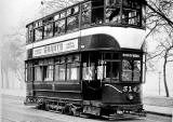 Tram 314 posed for a photograph.  Was this photo taken at Bruntsfield Links or The Meadows, and when might this photo have been taken?