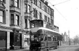 Tram at Church Hill terminus, 1952