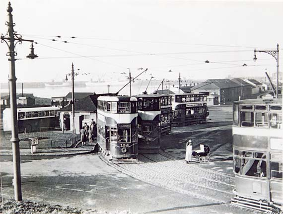 Trams at Granton