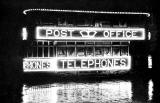 Illuminated Tram  -  Post Office Telephones  -  At Night