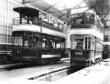 Trams in Leith Depot