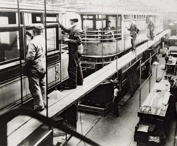 Shrubhill Repair Shop  -  Double-deck Tram Cars