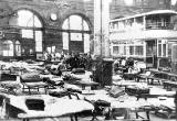 The Heavy Repair Shop at Shrubhill Tram Works converted to become a dormitory for volunteer workers during the General Strike in May 1926