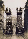 Tower Wagens on the North Bridge  -  Register House in the background