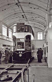 Edinburgh Transport Tram  -  Preserved Tram, No 35  -  Probaably in the small museum at Shrubhill