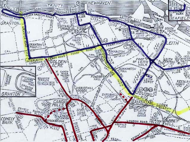 North Edinburgh and Leith Tram Lines  -  1920