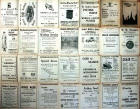 Adverts on the back of an Edinburgh Corporation Transport Department map of Tram and Bus Routees  -  1924