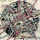 Edinburgh Corporation Transport Department  -  Map of Tram and Bus Routes  -  1924  -  Central Edinburgh