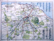 Edinburgh Corporation Transport Department  -  Map of Tram and Bus Routes  -  1932