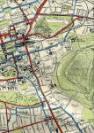 Edinburgh Corporation Transport Department  -  Map of Tram and Bus Routes  -  1932  -  Newington