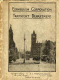Cover of an Edinburgh Corporation Tramways Department Map, published around 1928