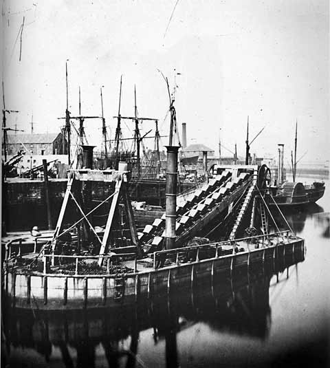 Granton Harbour - Dredger - Photograph by Begbie