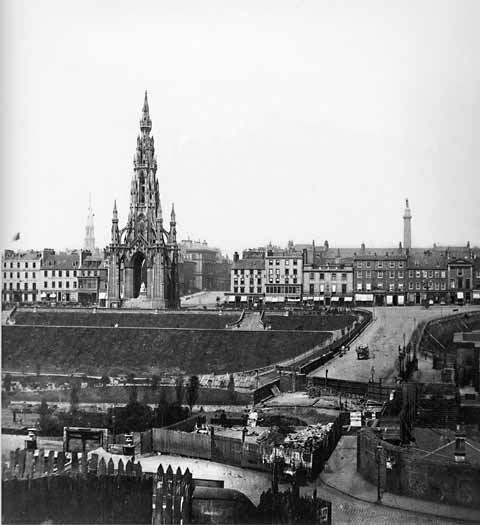 Princes Street and Waverley Bridge - Photograph by Begbie