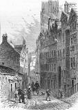 Engraving from 'Old & New Edinburgh'  -  Castle Hill