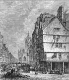 Engraving from 'Old & New Edinburgh'  -  The Lawnmarket