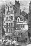 Engraving from 'Old & New Edinburgh'  -  Gladstone's Land
