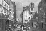 Engraving from 'Old & New Edinburgh'  -  The Heart of Midlothian