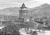 Engraving from 'Old & New Edinburgh'  -  The Burns Monument