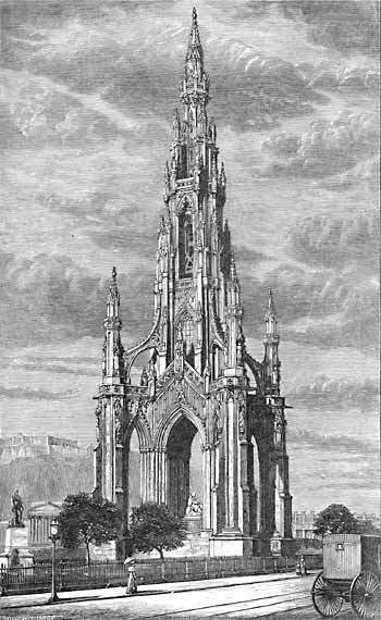Engravings  -  The Scott Monument