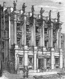 Engraving from 'Old & New Edinburgh'  -  British Linen Bank on the east side of St Andrew Square