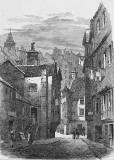 Engraving from Old & New Edinburgh  -  High Street Wind