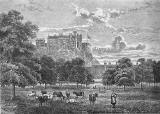 Engraving from 'Old & New Edinburgh'  -  The Meadows