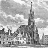 Engraving from 'Old & New Edinburgh'  -  Barclay Church