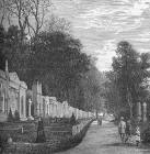 Engraving from 'Old & New Edinburgh'  -  Dean Cemetery