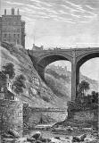 Engraving  -  The Dean Bridge and Randolph Cliff