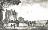 Engraving from 'Old & New Edinburgh'  -  Lauriston Castle in 1775