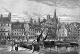 Engraving from 'Old & New Edinburgh'  -  The Shore at Leith