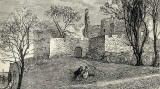 Engraving from 'Old & New Edinburgh'  -  Granton Castle